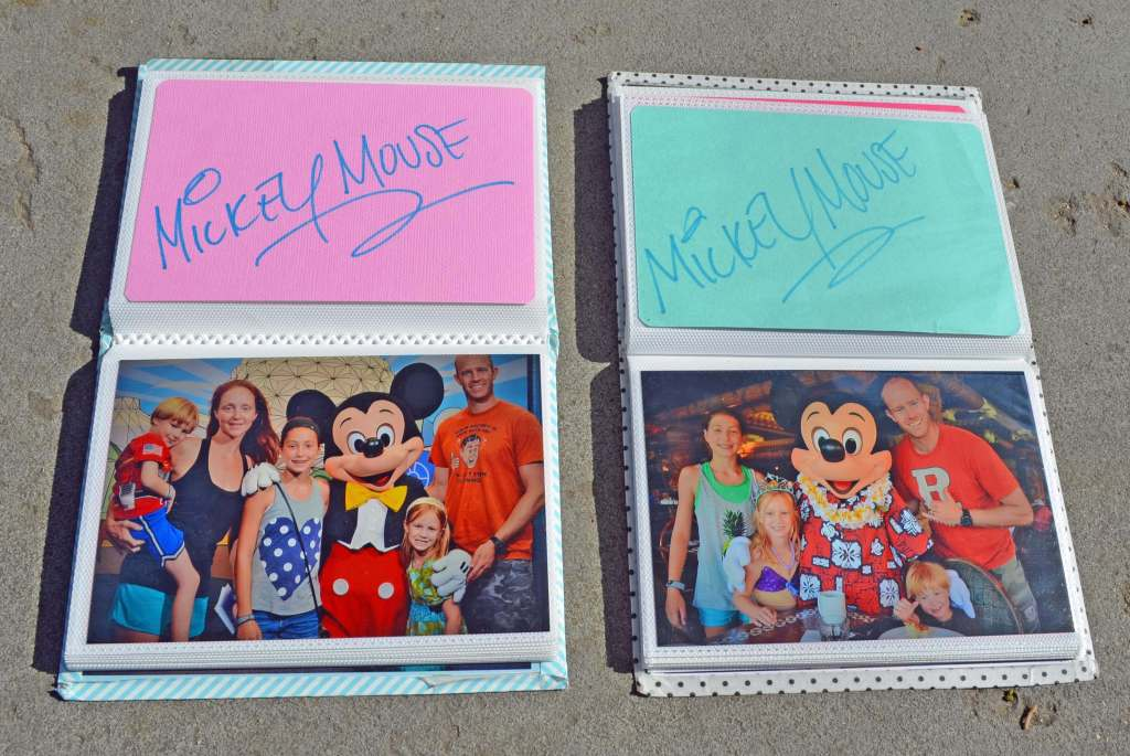 Mickeys autograph at Disney World