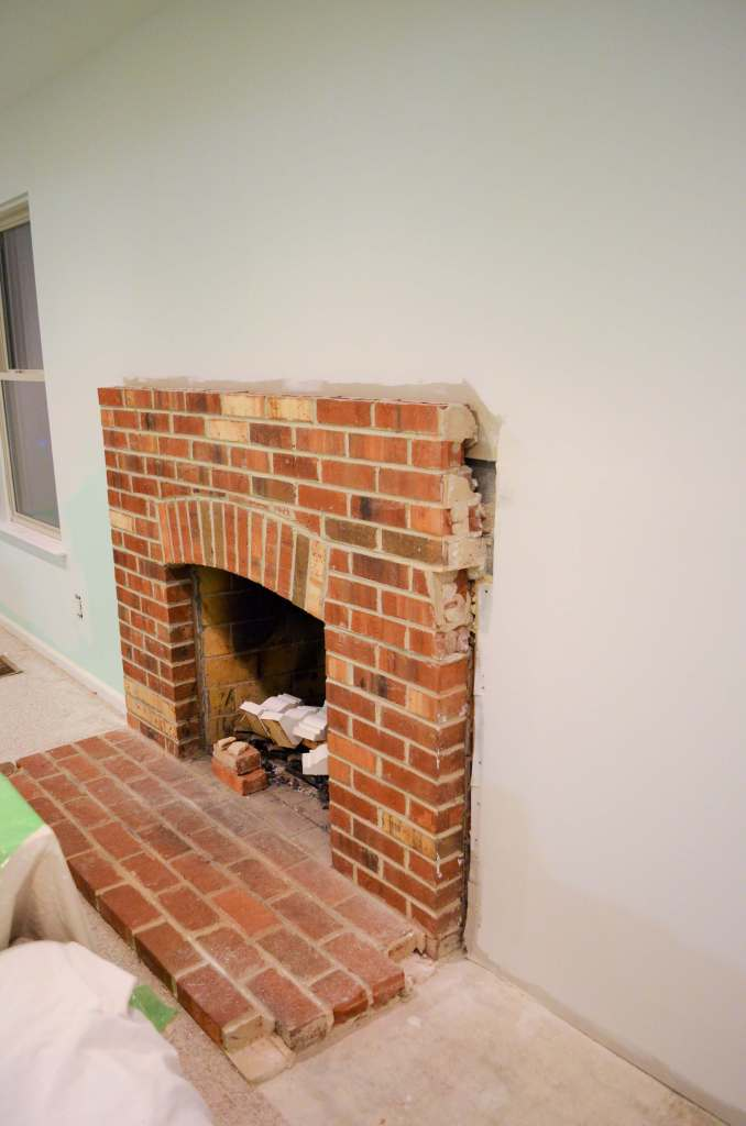 This side of the fireplace needs work