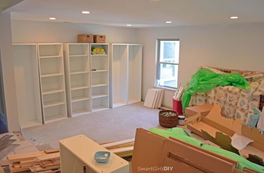 BESTA bookshelves will become built-ins