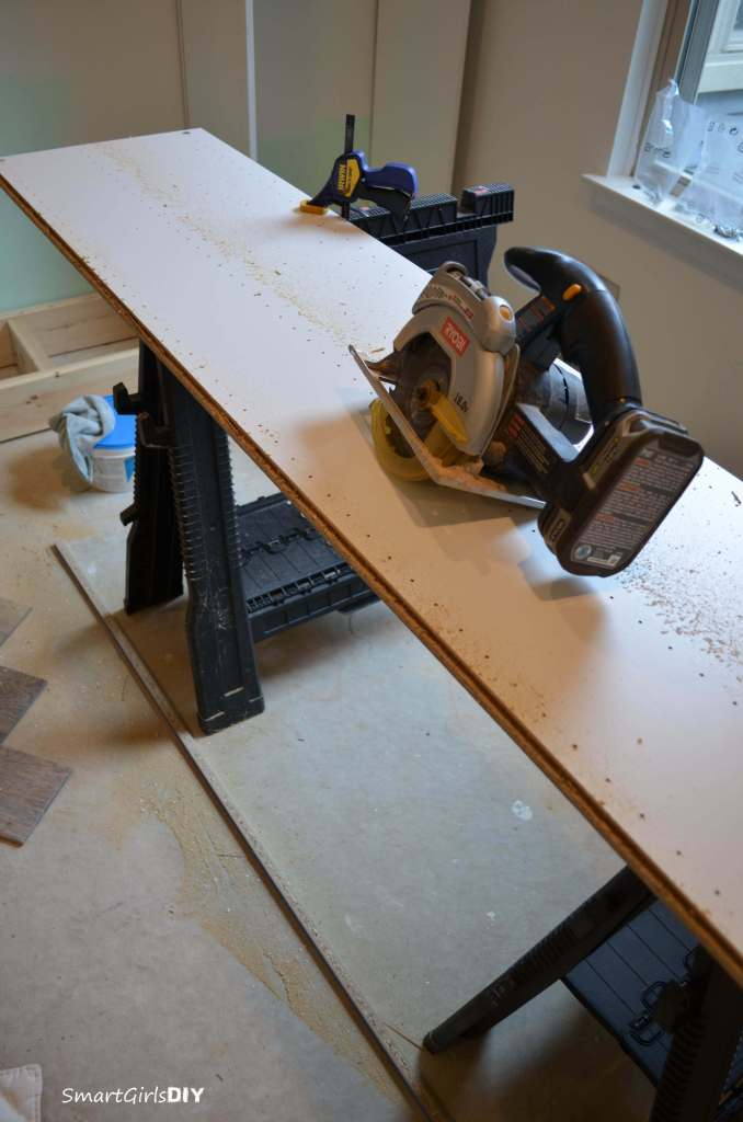 Cutting off edge of BESTA cabinet