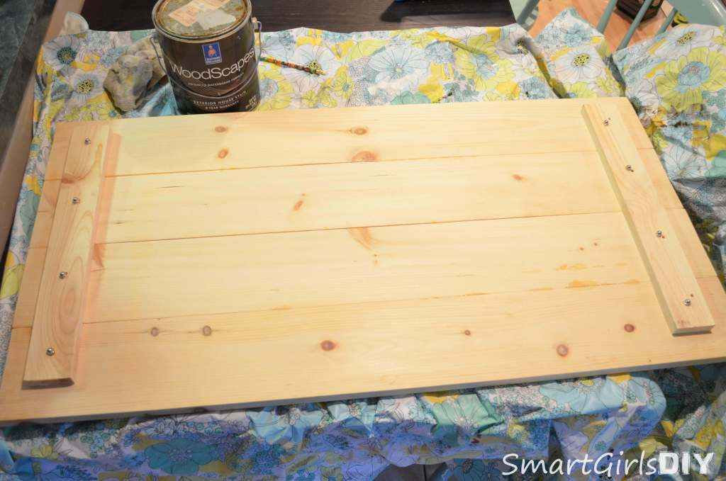 Build coffee table top out of inexpensive wood - easy DIY