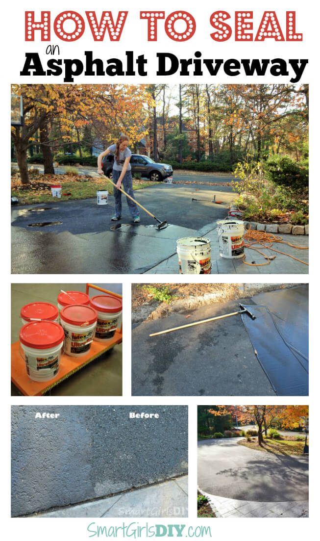 How to seal an asphalt driveway yourself how to seal an asphalt driveway yourself its not hard at all solutioingenieria Image collections