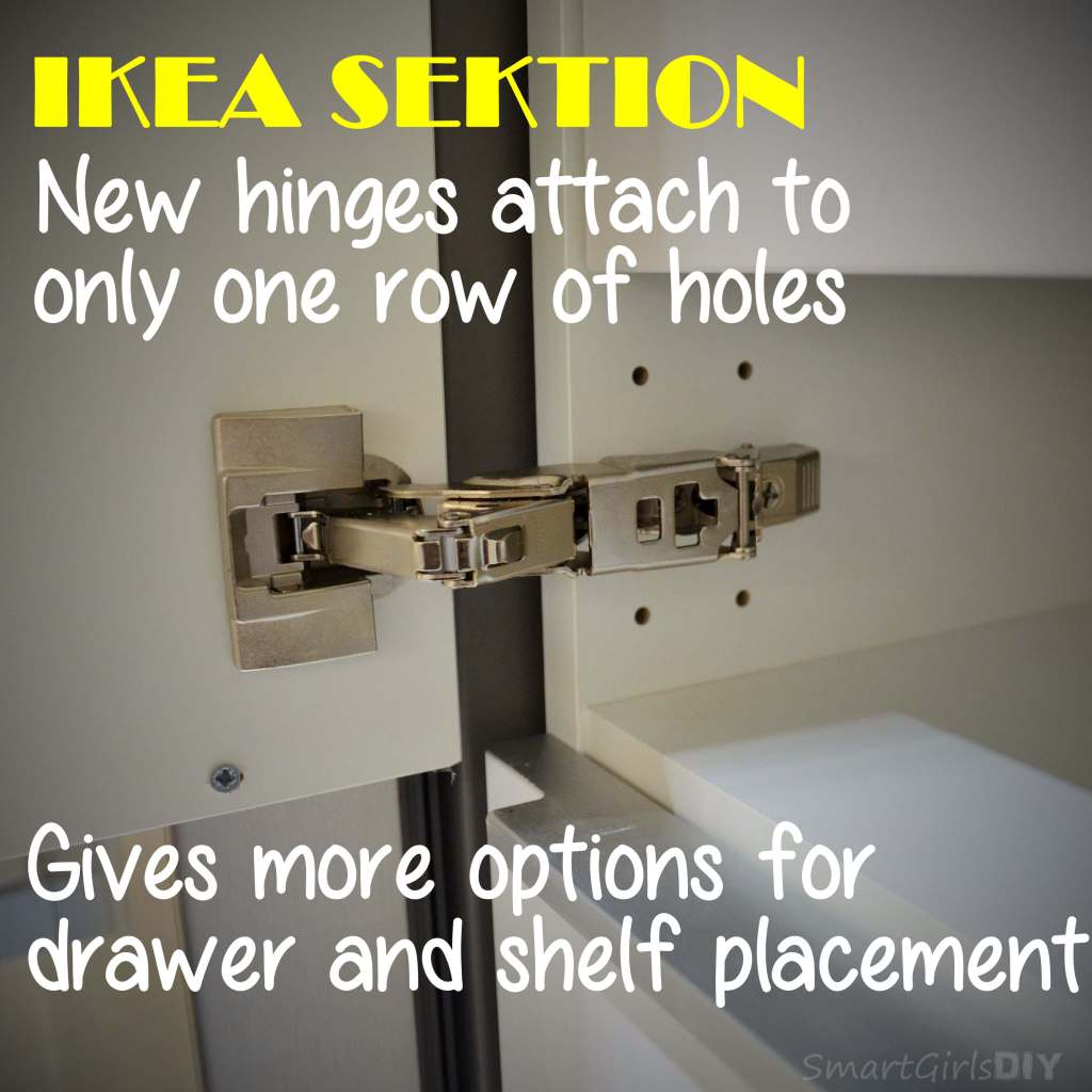 IKEA SEKTION new smaller hinges