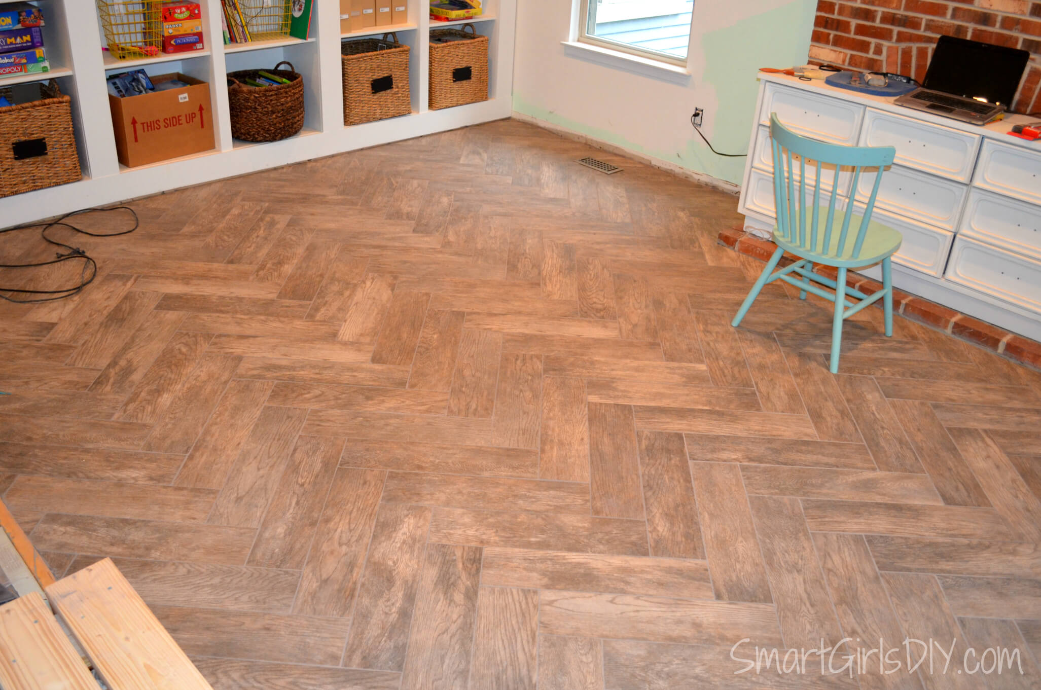grouting a herringbone tile floor family room 11. Black Bedroom Furniture Sets. Home Design Ideas