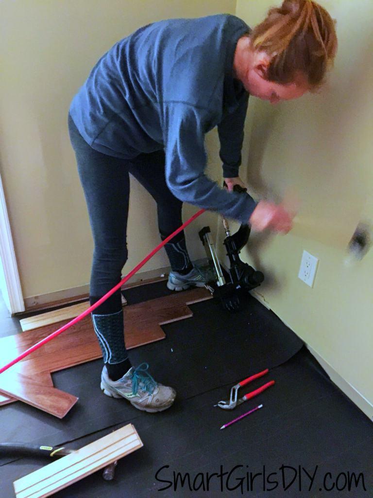 Installing Bruce hardwood floor DIY