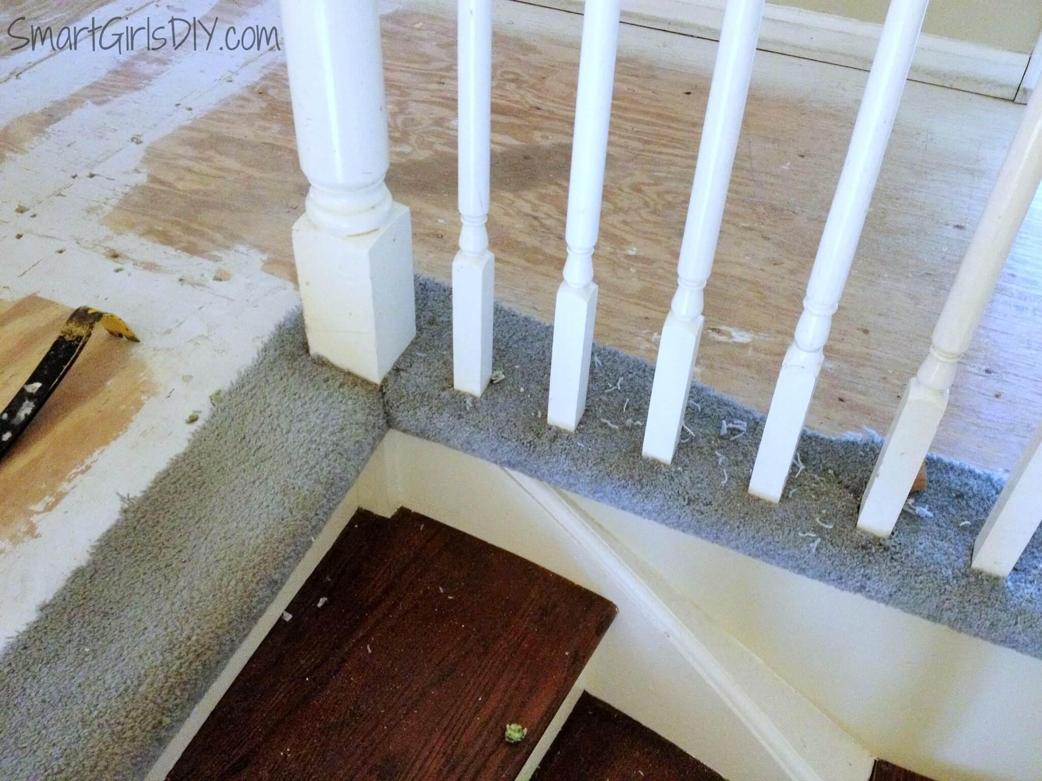 Removing Stair Carpet Upstairs Hallway 2 Hardwood Spindles