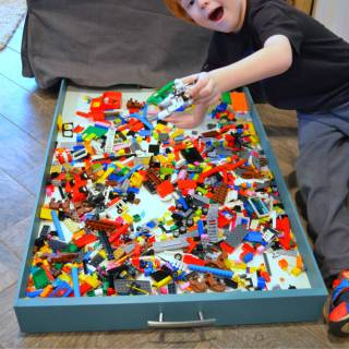 Under Couch Lego Storage Drawer