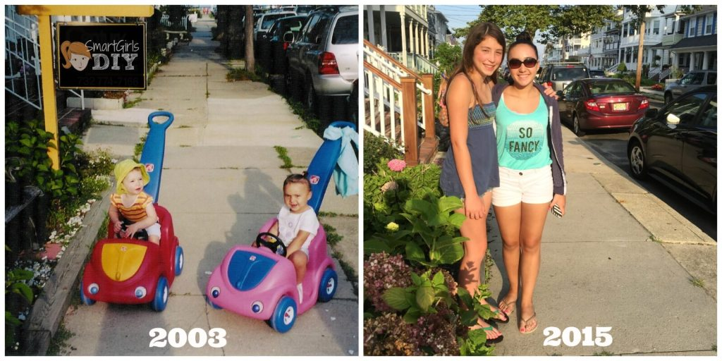 Best friends as babies and now they're 13
