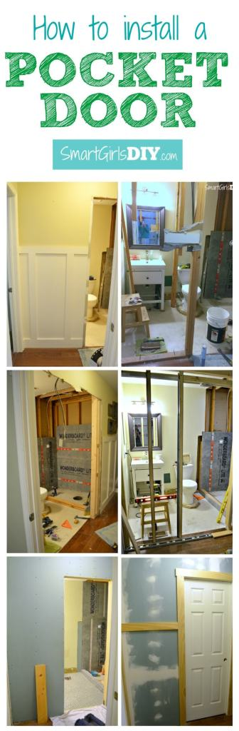 How to install a pocket door - Tutorial by Smart Girls DIY