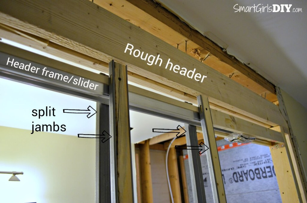 How to install a pocket door by Smart Girls DIY -- install split jambs