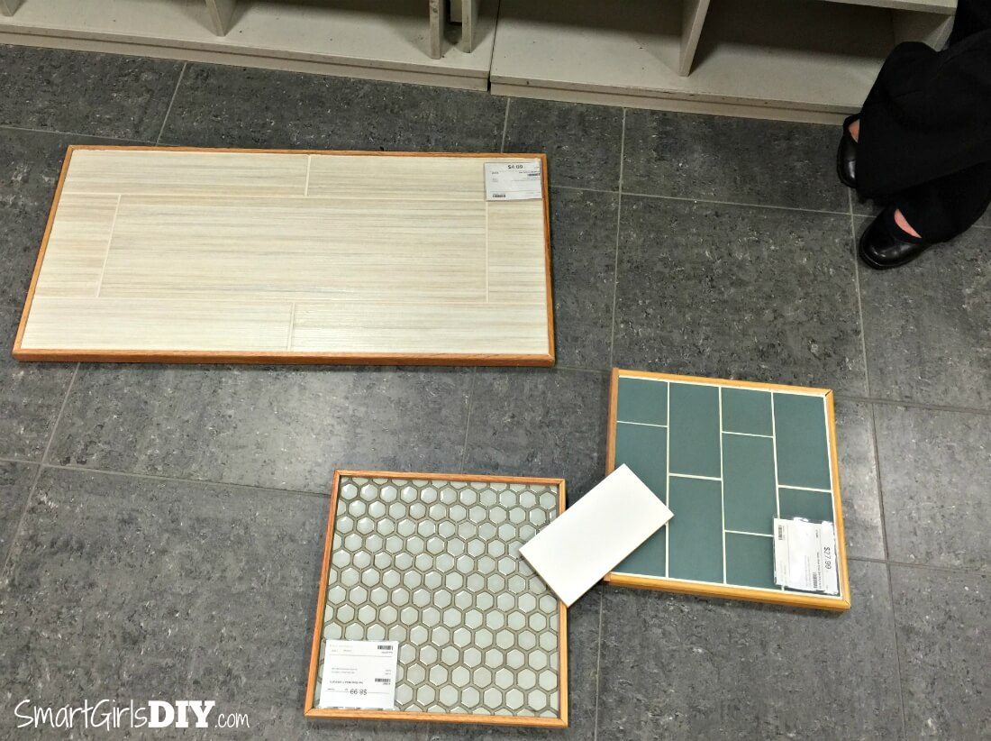 Guest bathroom 7 diy hex tile floor the tile shop tile selection happy at first but ended up taking it all dailygadgetfo Choice Image