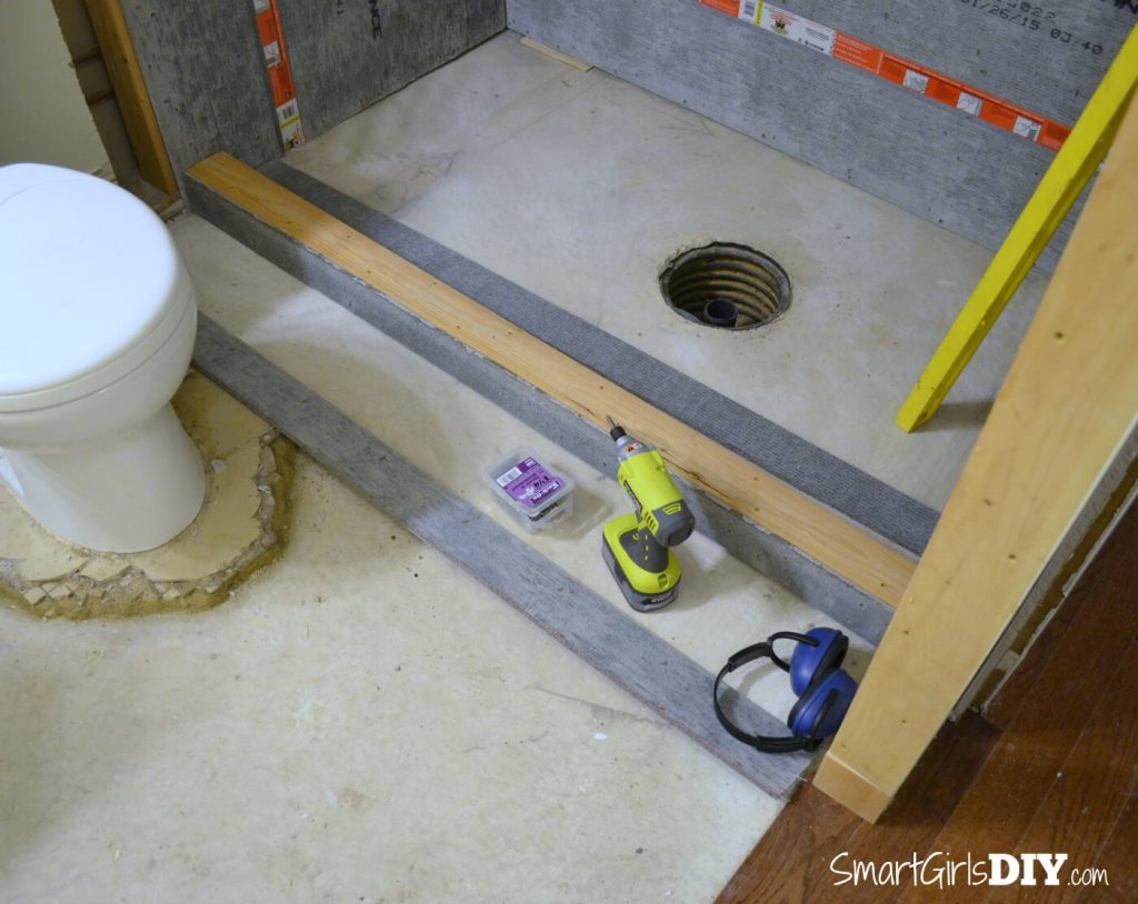 How to build a shower curb and make your own cutsom shower pan