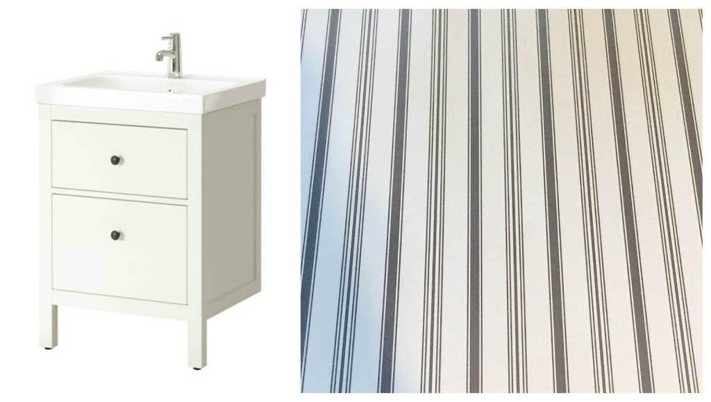 IKEA HEMNES vanity and built-in drawer liner