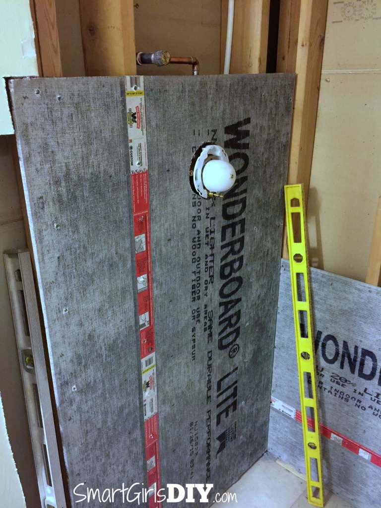 Installing Wonderboard on shower walls but plumbing is in wrong spot