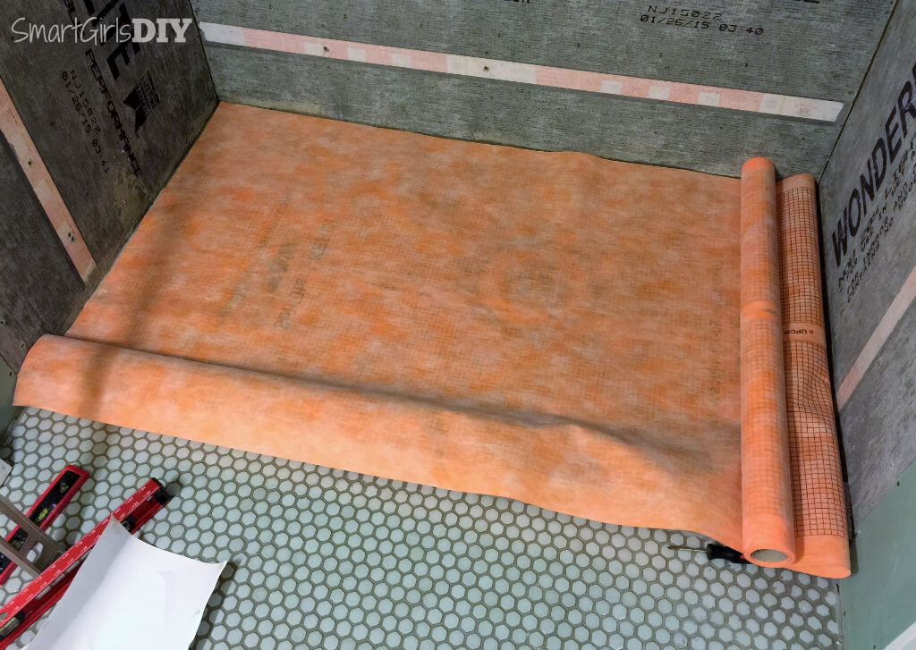 Measure And Cut Schluter Kerdi To Fit The Shower Pan ...