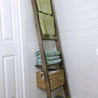 Bathroom Storage Ladder – One Board Challenge