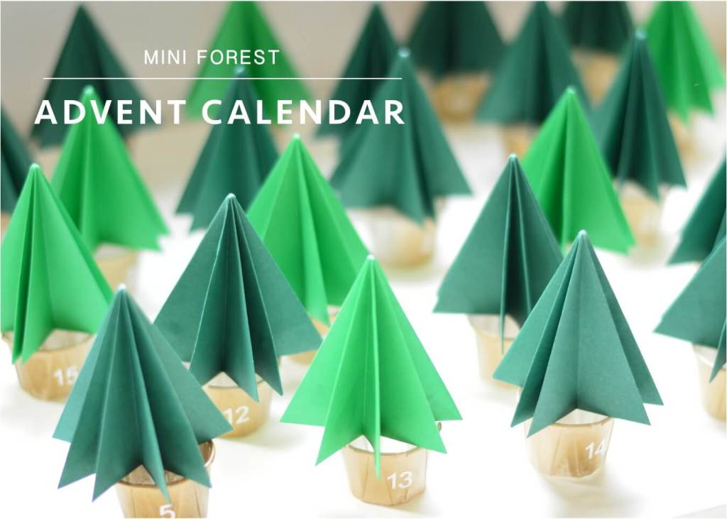 DIY Christmas trees made from paper -- Advent calendar