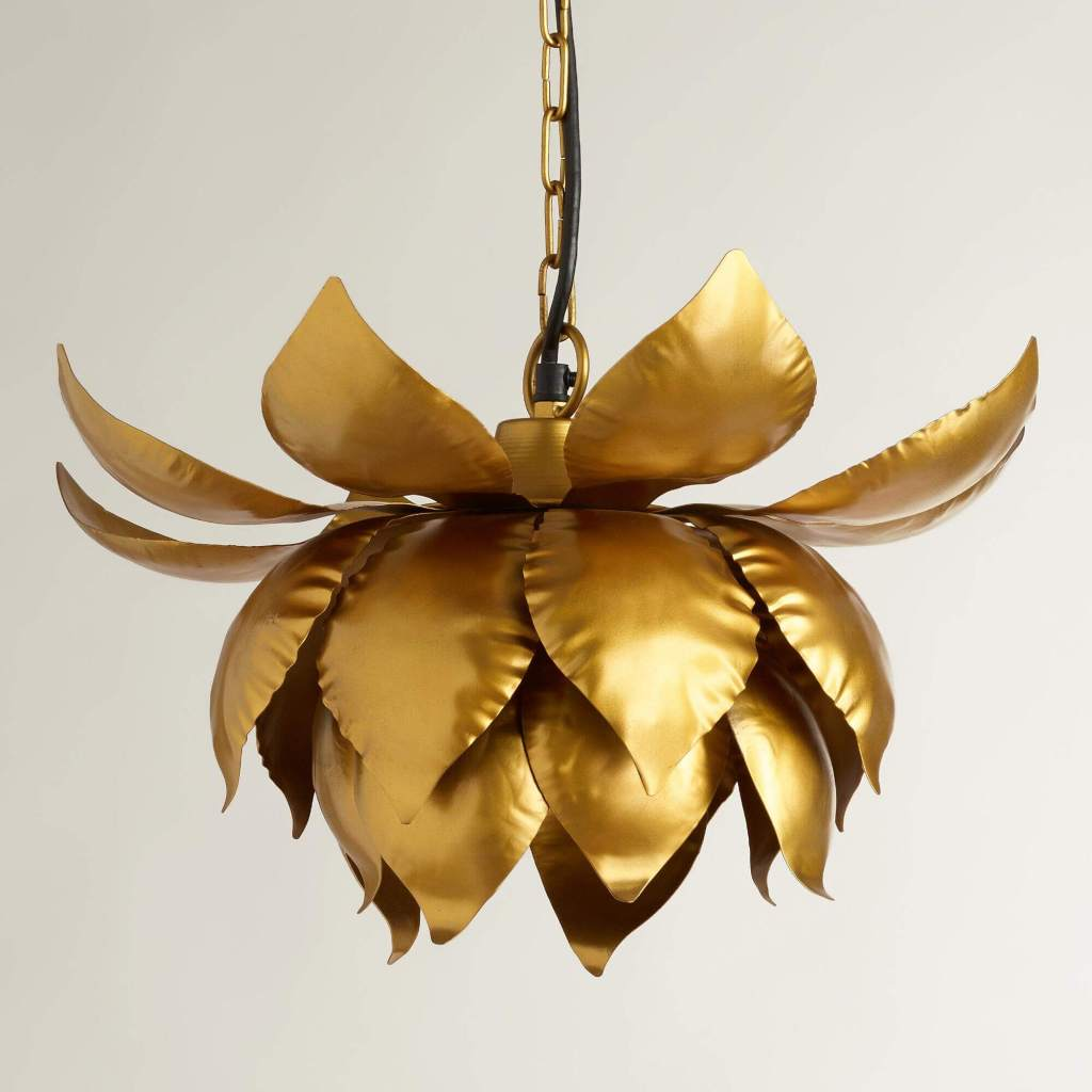 Gold Lotus Hanging Pendant from World Market