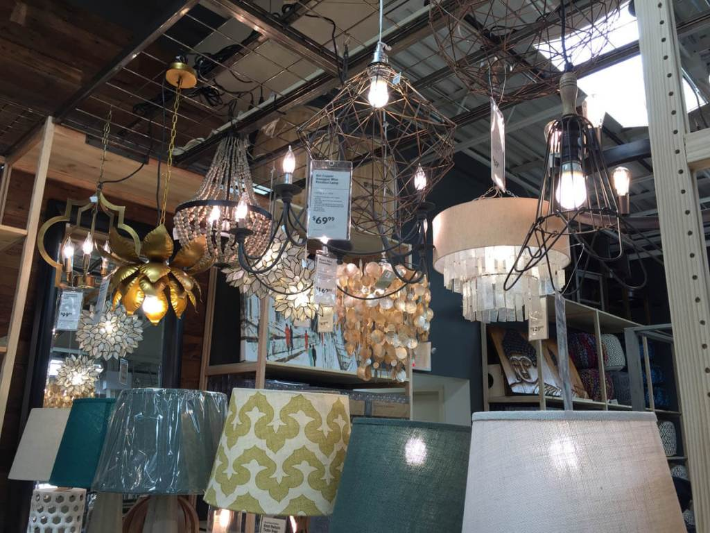 Lots of lighting options at Cost Plus World Market Shrewsbury