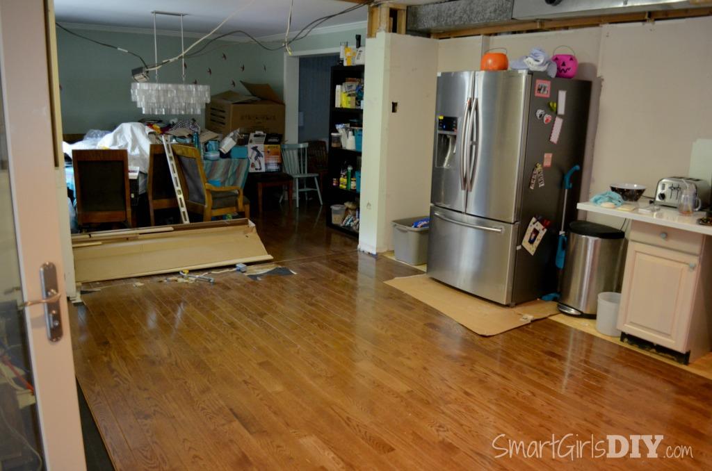 DIY Kitchen Renovation    Installing Hardwood Floors