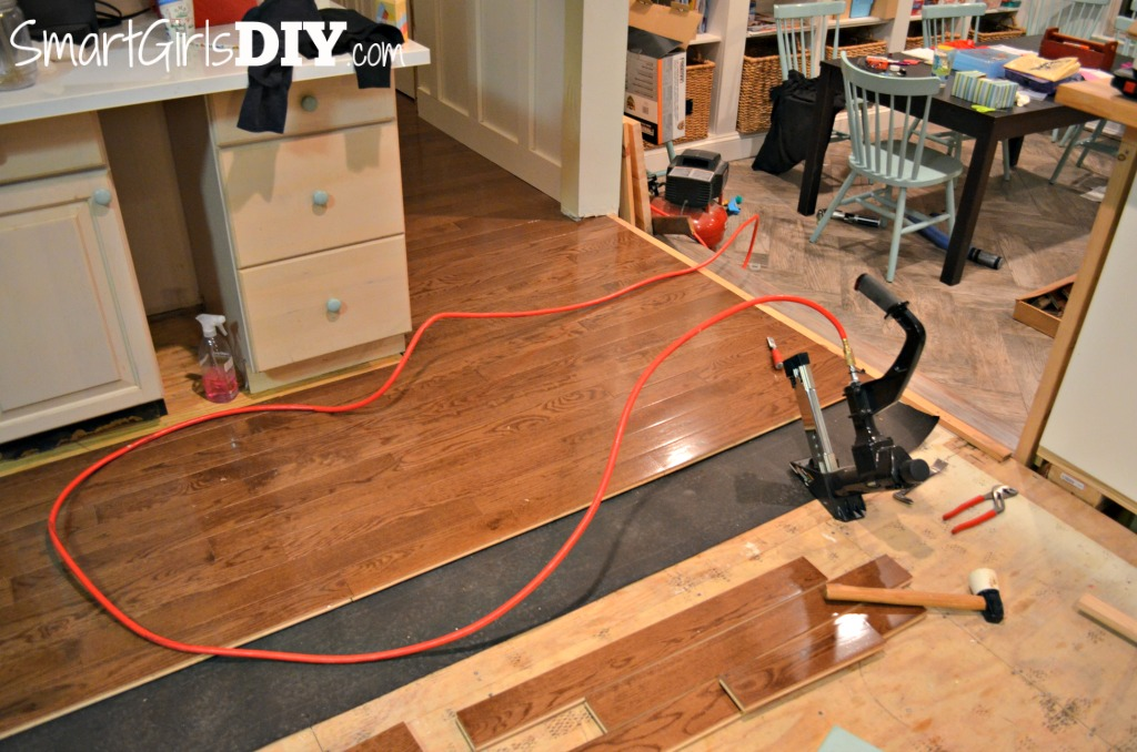 DIY kitchen floor installation