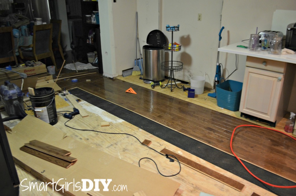 Installing Hardwood in Kitchen