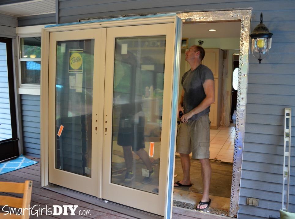 Installing Pella Patio Doors   The Test Fit
