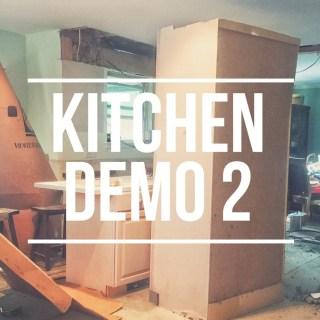 Kitchen Demo – Round 2