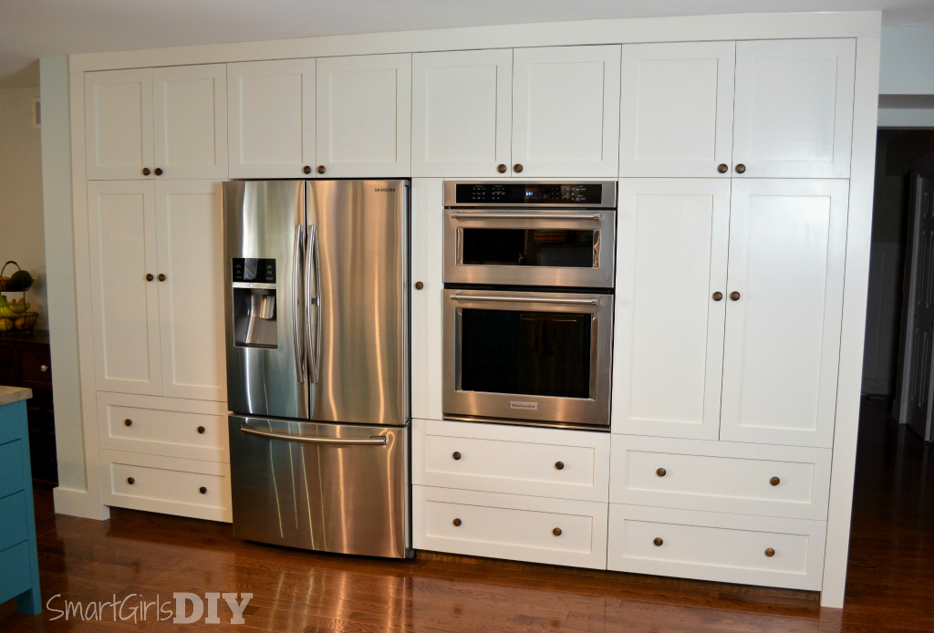 How to build a pantry wall with barker cabinets for Barker kitchen cabinets