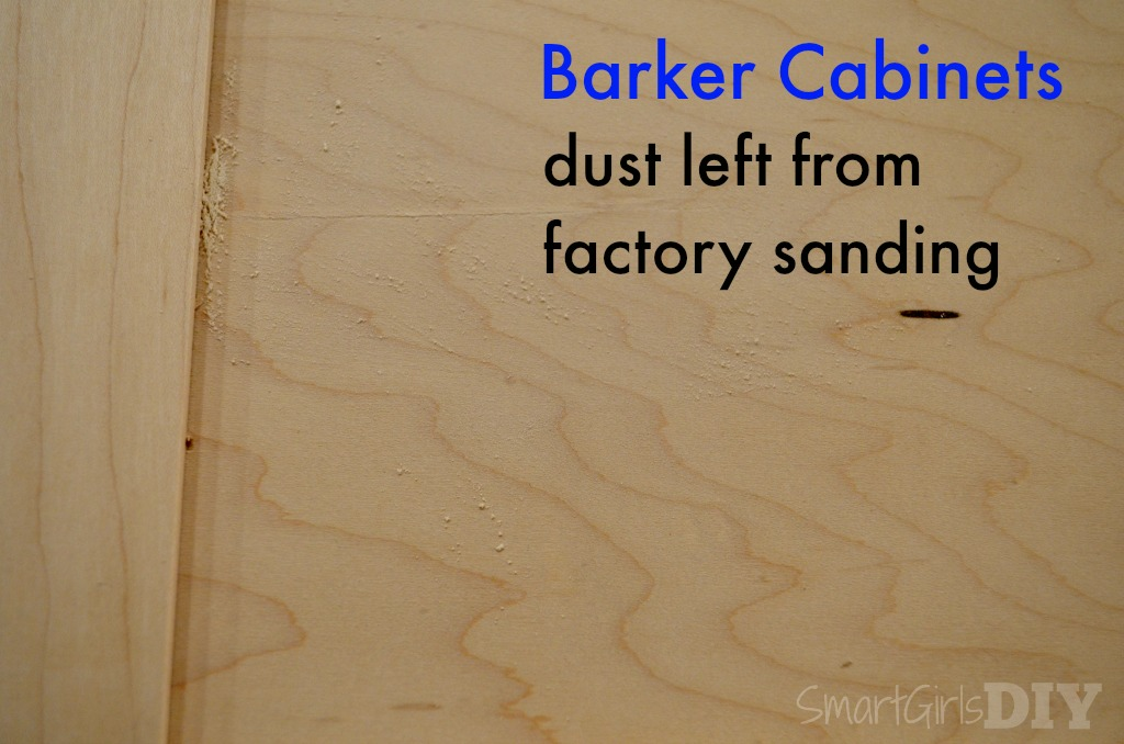 Barker Cabinet Doors come pre-sanded but there is dust