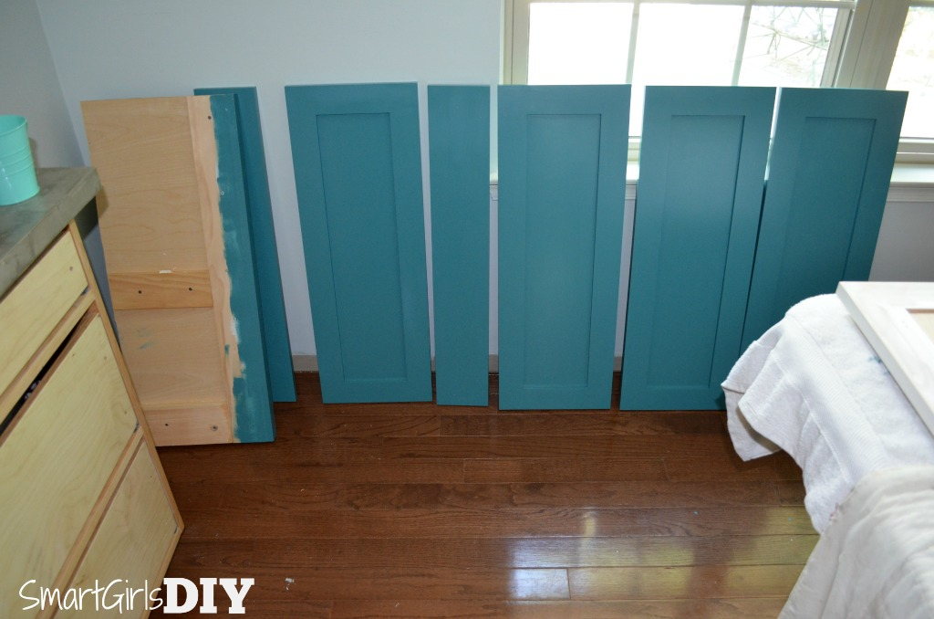 Teal Ocean on Barker Cabinets