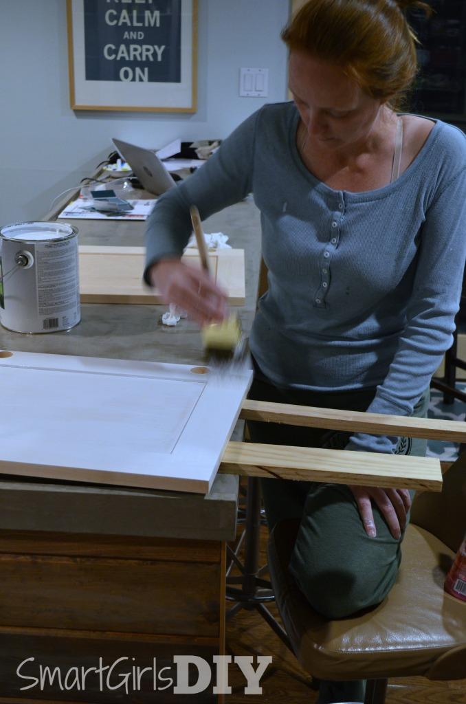 Smart Girls DIY painting her Barker kitchen cabinet doors & Painting Barker Cabinet Doors
