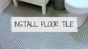 How to install a hex tile floor