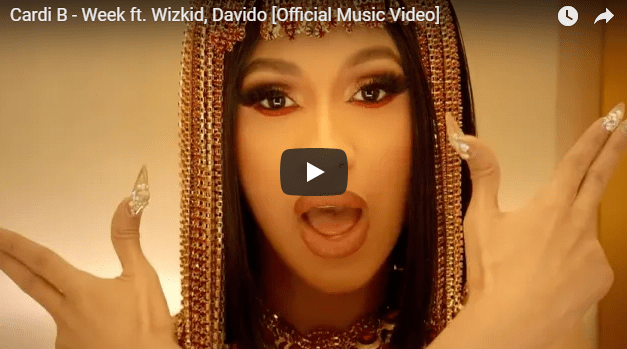 New Cardi B song featuring Nigeria Wizkid and Davido