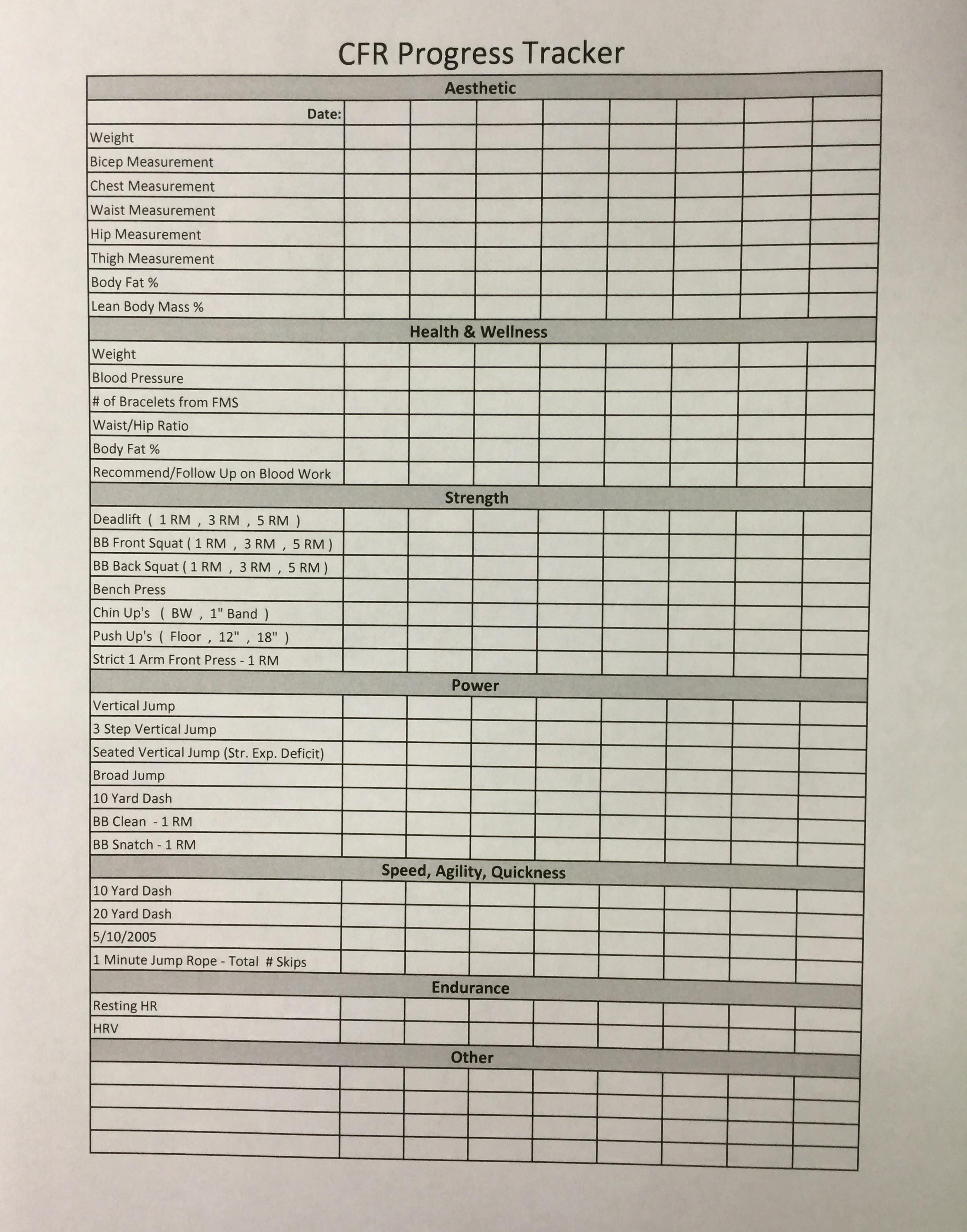 Workout Accountability Chart Eoua Blog