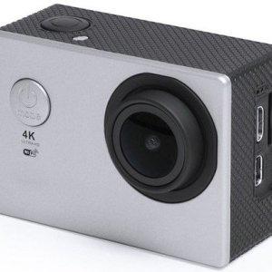 """Action Kamera Sæt - 4k - Wifi - 30 M Vandtæt - 2"""" Skærm - Grå"""