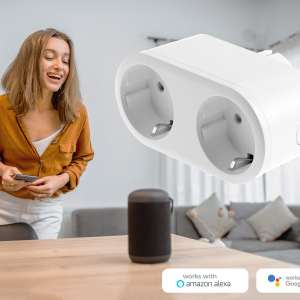 Denver Smart Plug Wi-Fi 2-i-1
