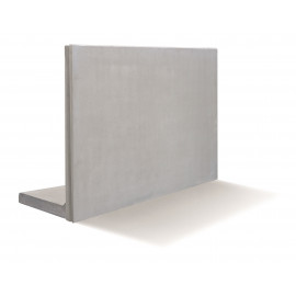RC Beton L-Stød4KN/m2 120 x 200 cm - Grå