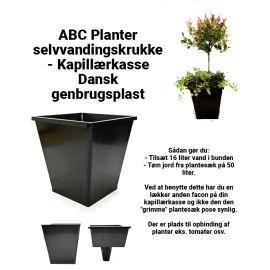 ABC Planter 1 – selvvandingskrukke - Kapillærkasse Genbrugsplast