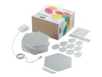Nanoleaf Shapes Smarter Kit - Trådløst belysningssæt - LED x 9 - 2 W - 16 millioner farver - 1200-6500 K - hexagon