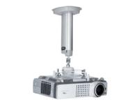 SMS Projector CL F1000 w/ SMS Unislide - Monteringspakke (til loftmontering) for projektor (Skærmtiltning og -drejning) - sølv, aluminium - loftsmont