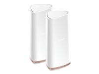 D-Link Covr Whole Home - Wi-Fi-system (2 extendere) - op til 550 m2 - mesh - 802.11ac Wave 2 - 802.11a/b/g/n/ac Wave 2 - Tri-Band