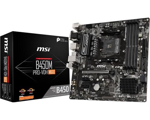 Msi B450m Pro-vdh Max Micro-atx Bundkort