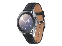 Samsung Galaxy Watch 3 - 41 mm - mystisk sølv - smart ur med bånd - læder - display 1.2 - 8 GB - 4.3 GB - Wi-Fi, NFC, Bluetooth - 48.2 g