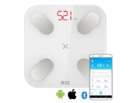 Svarstykles PICOOC Smart Digital scale Mini V2 Maximum weight (capacity) 150 kg, Body Mass Index (BMI) measuring, Baltas