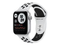 Apple Watch Nike Series 6 (GPS) - 40 mm - sølvaluminium - smart ur med Nike-sportsbånd - fluoroelastomer - ren platin/sort - båndstørrelse: S/M/L - 3