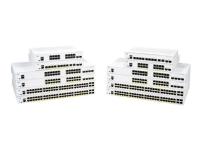Cisco Business 250 Series 250-8FP-E-2G - Switch - L3 - smart - 8 x 10/100/1000 (PoE+) + 2 x combo SFP - monterbar på stativ - PoE+ (120 W)