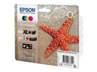 Epson 603 Multipack - 4 pakker - sort, gul, cyan, magenta - original - blister - blækpatron - for Expression Home XP-2100, 2105, 3100, 3105, 4100, 41