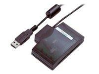 Fujitsu SCR USB Solo 2 - SMART-kortlæser - USB - transparent mørkegrå - for FUTRO S9010, S930, S940 SCENIC C620, E300, E620