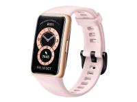 Huawei Band 6 - Smart ur med rem - silikone - sakura pink - display 1.47 - Bluetooth - 18 g